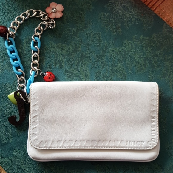 Juicy Couture Handbags - JUICY COUTOURE white leather wristlet